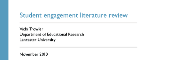 student engagement literature review vicki trowler